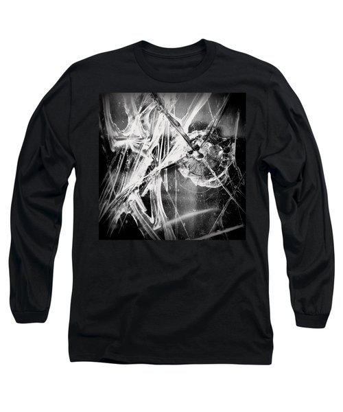 Long Sleeve T-Shirt featuring the photograph Shatter - Black And White by Joseph Skompski