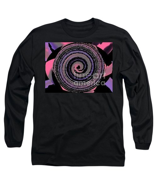 Long Sleeve T-Shirt featuring the digital art She Wirls by Catherine Lott