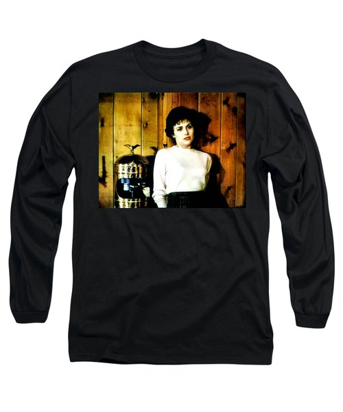 Long Sleeve T-Shirt featuring the painting Shed Been Murdered by Luis Ludzska