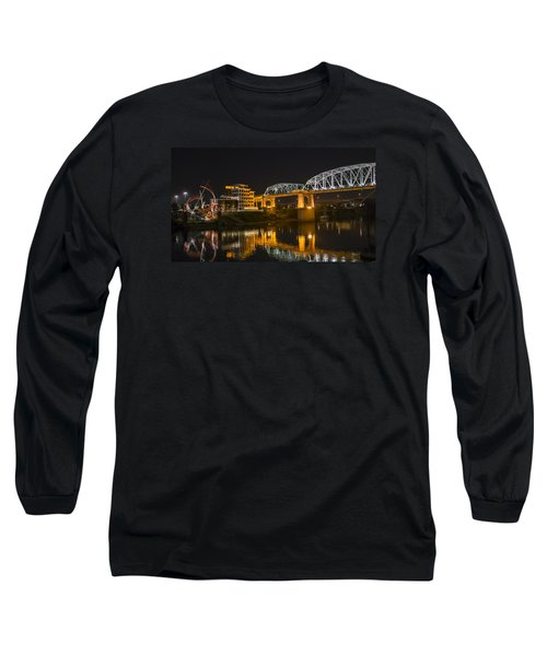 Shelby Street Bridge Nashville Long Sleeve T-Shirt by Glenn DiPaola