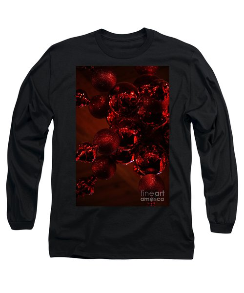 Shimmer In Red Long Sleeve T-Shirt