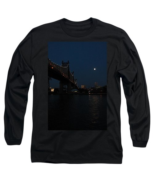 Shining Moon Long Sleeve T-Shirt by Catie Canetti
