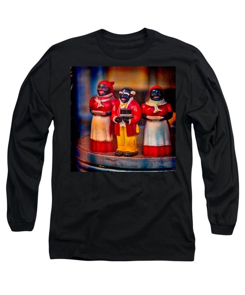 Long Sleeve T-Shirt featuring the photograph Shop Window Trio by Chris Lord