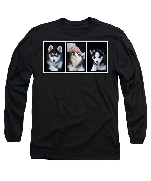 Siberian Husky Puppies Mans Best Friend Long Sleeve T-Shirt