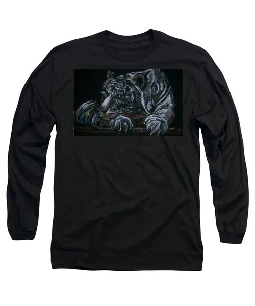 Siberian Tiger Long Sleeve T-Shirt by Peter Suhocke