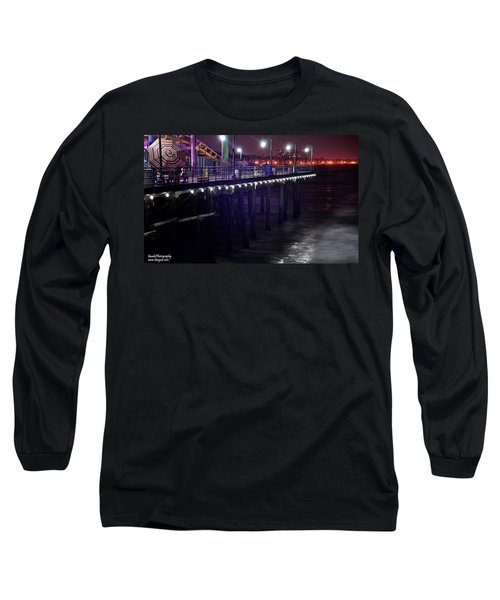 Side Of The Pier - Santa Monica Long Sleeve T-Shirt