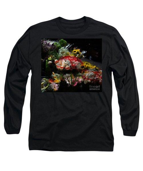 Long Sleeve T-Shirt featuring the photograph Sidewalk Flower Shop by Lilliana Mendez