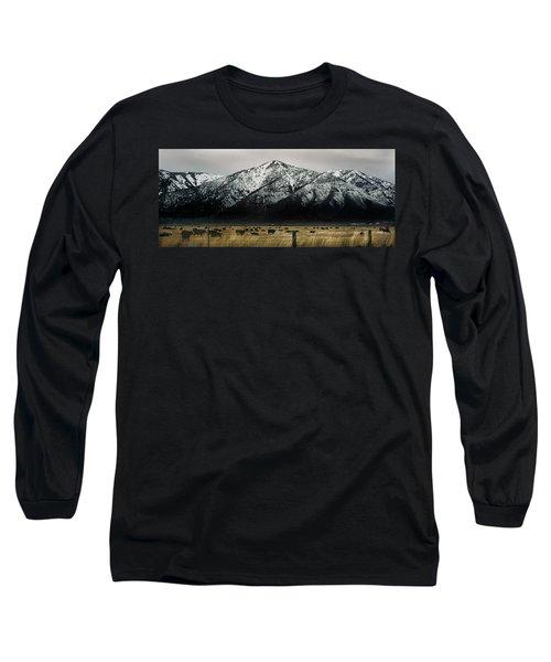 Sierra Nevada Mountains Near Lake Tahoe Long Sleeve T-Shirt by Steve Archbold
