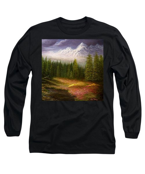 Sierra Spring Storm Long Sleeve T-Shirt by Loxi Sibley