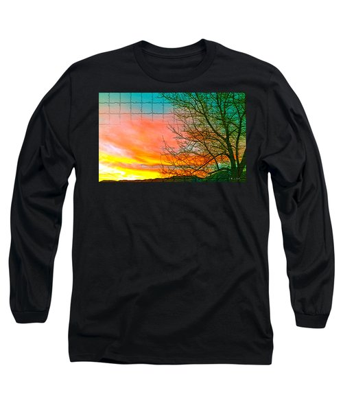Sierra Sunset Cubed Long Sleeve T-Shirt