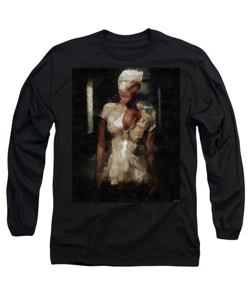 Silent Hill Nurse Long Sleeve T-Shirt by Joe Misrasi