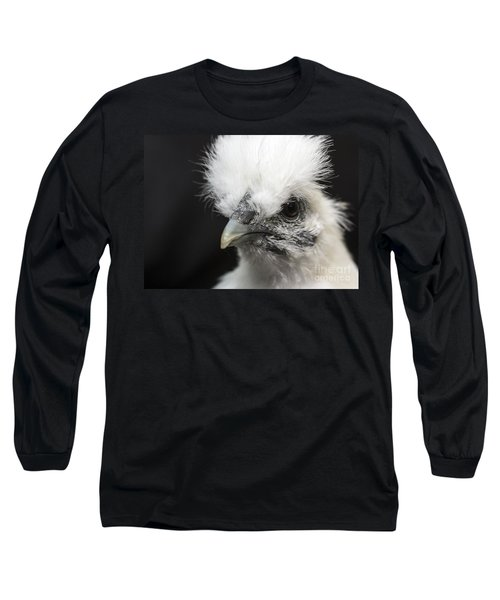 Silkie Chicken Portrait Long Sleeve T-Shirt
