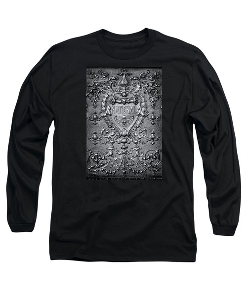 Silver Flourish Long Sleeve T-Shirt by Caitlyn  Grasso