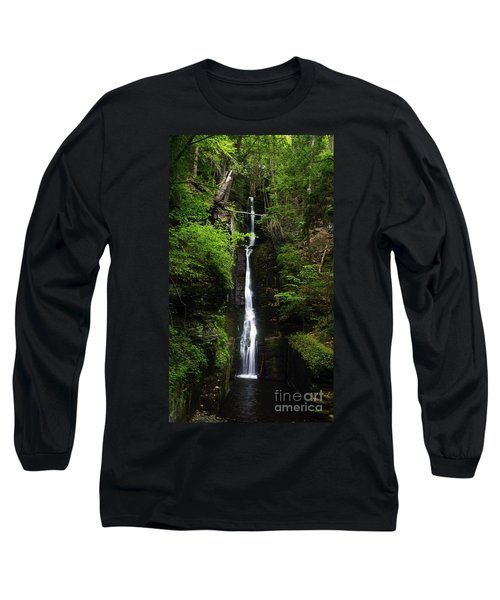 Long Sleeve T-Shirt featuring the photograph Silverthread Falls by Debra Fedchin