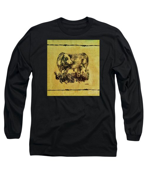 Simmental Bull 12 Long Sleeve T-Shirt by Larry Campbell