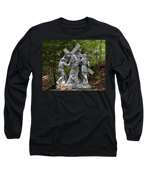 Simon Helps Jesus Long Sleeve T-Shirt