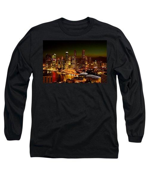 Singapore Skyline Long Sleeve T-Shirt