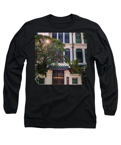 Singapore Traditional Houses Long Sleeve T-Shirt