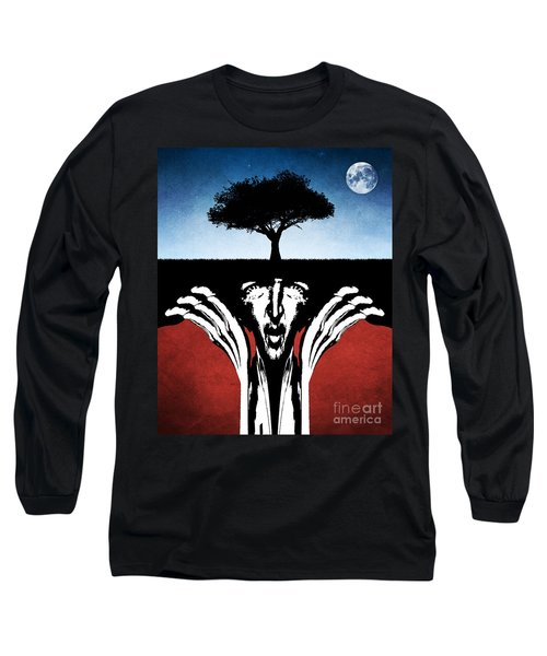 Long Sleeve T-Shirt featuring the digital art Sir Real by Phil Perkins