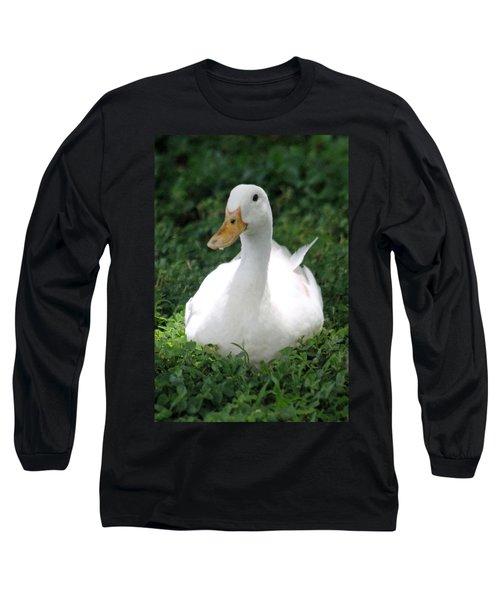 Sitting Duck Long Sleeve T-Shirt by Pamela Walton