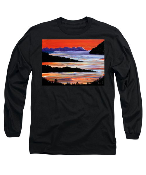 Sitting Seaside Long Sleeve T-Shirt