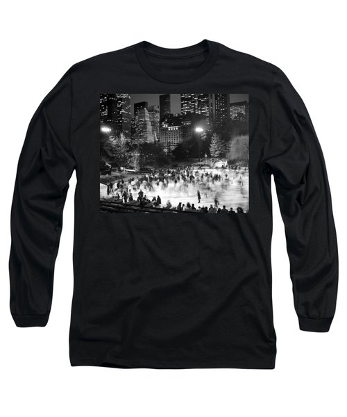 New York City - Skating Rink - Monochrome Long Sleeve T-Shirt