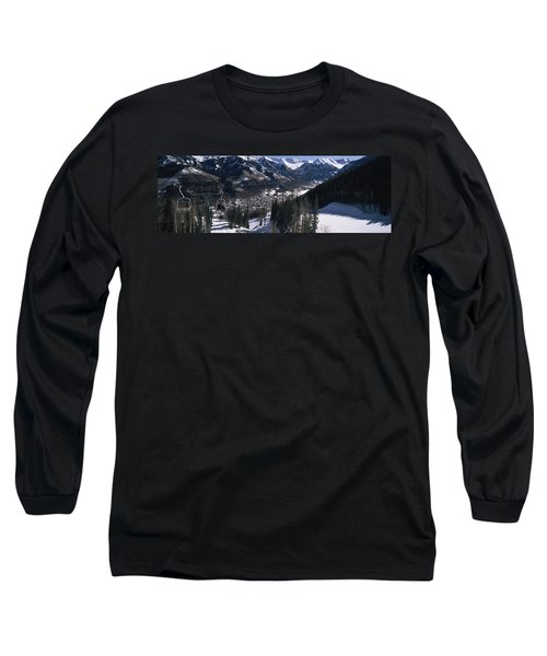 Ski Lifts Over Telluride, San Miguel Long Sleeve T-Shirt