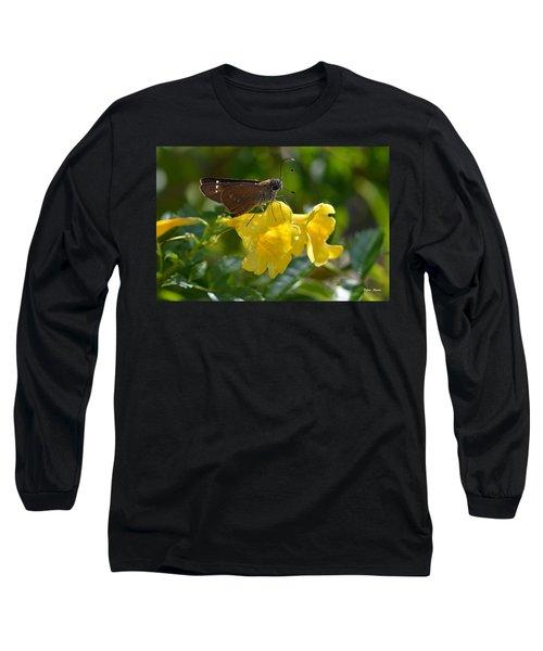 Long Sleeve T-Shirt featuring the photograph Skipper Butterfly 2 by Debra Martz