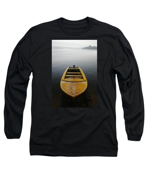 Long Sleeve T-Shirt featuring the photograph Skc 0042 Calmness Anchored by Sunil Kapadia