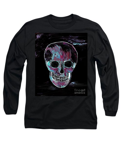 Long Sleeve T-Shirt featuring the painting Skull by Annie Zeno