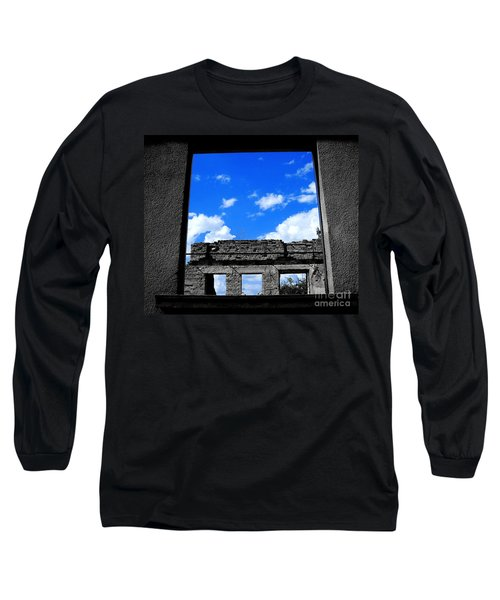 Long Sleeve T-Shirt featuring the photograph Sky Windows by Nina Ficur Feenan