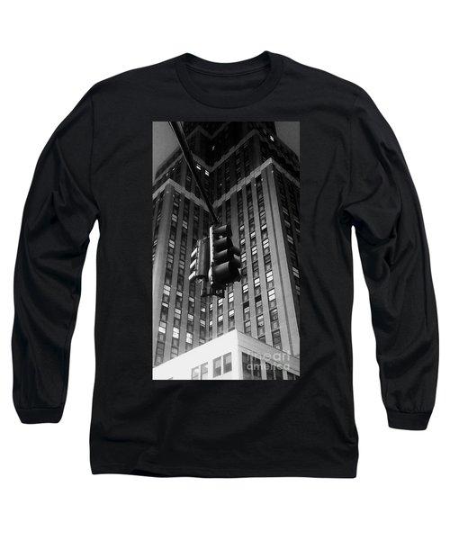 Skyscraper Framed Traffic Light Long Sleeve T-Shirt by James Aiken