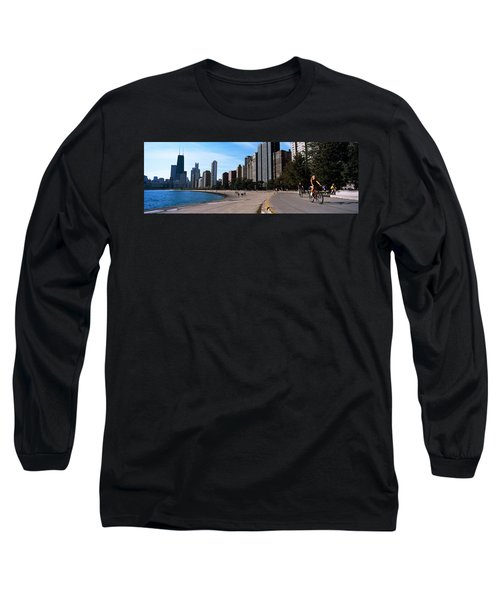 Skyscrapers At The Waterfront, Oak Long Sleeve T-Shirt