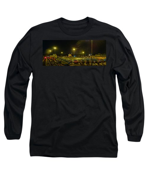 Sleeping Subways Long Sleeve T-Shirt by Jeffrey Friedkin