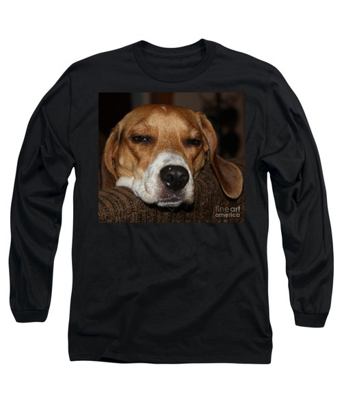 Sleepy Beagle Long Sleeve T-Shirt by John Telfer