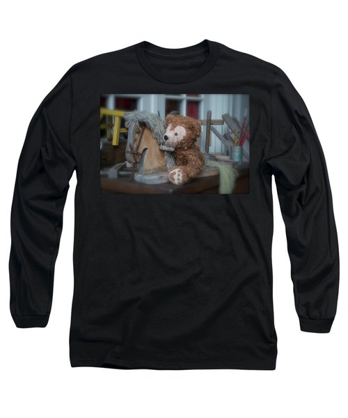 Long Sleeve T-Shirt featuring the photograph Sleepy Cowboy Bear by Thomas Woolworth
