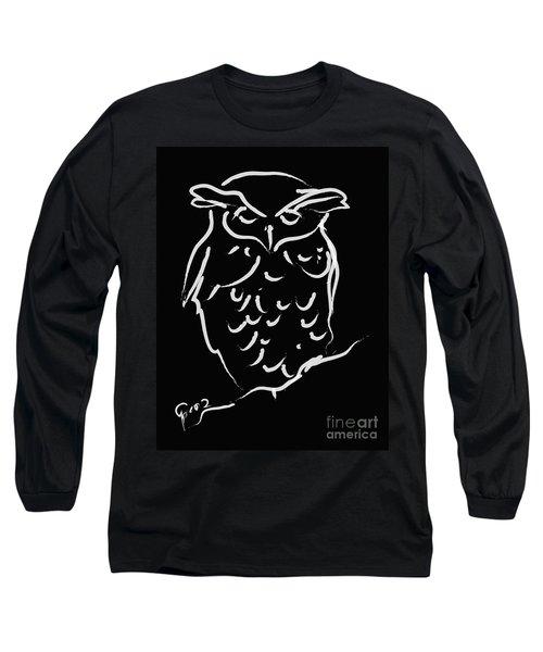 Sleepy Owl Long Sleeve T-Shirt by Go Van Kampen