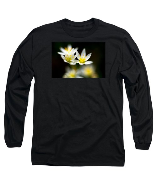 Long Sleeve T-Shirt featuring the photograph Small White Flowers by Darryl Dalton