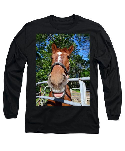 Long Sleeve T-Shirt featuring the photograph Smile by Ed Weidman