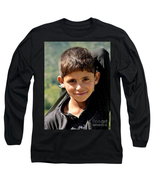 Smiling Boy In The Swat Valley - Pakistan Long Sleeve T-Shirt