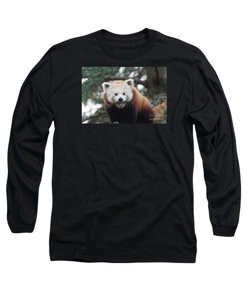 Smiling Red Panda Long Sleeve T-Shirt