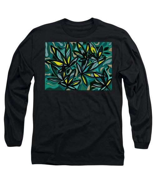 Long Sleeve T-Shirt featuring the painting Smoke On The Water by Barbara St Jean