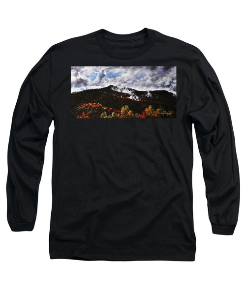 Long Sleeve T-Shirt featuring the painting Smoky Mountain Angel Hair by Craig T Burgwardt