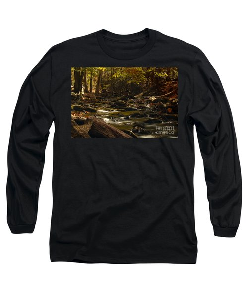 Smoky Mountain Stream Long Sleeve T-Shirt by Patrick Shupert
