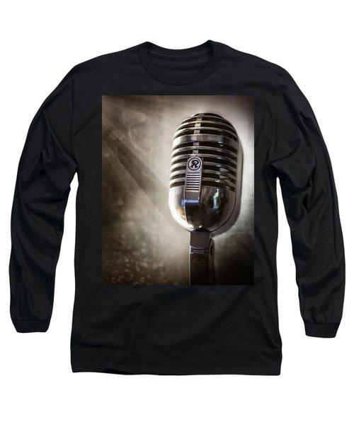 Smoky Vintage Microphone Long Sleeve T-Shirt