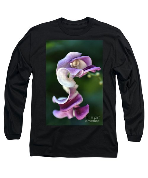 Long Sleeve T-Shirt featuring the photograph Snail Flower by Joy Watson