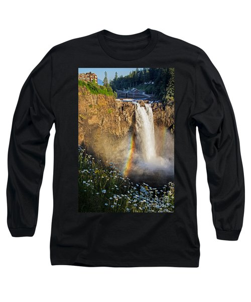 Snoqualmie Falls  Long Sleeve T-Shirt by Sonya Lang