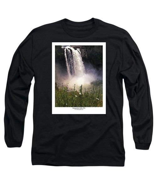 Snoqualmie Falls Wa. Long Sleeve T-Shirt by Kenneth De Tore