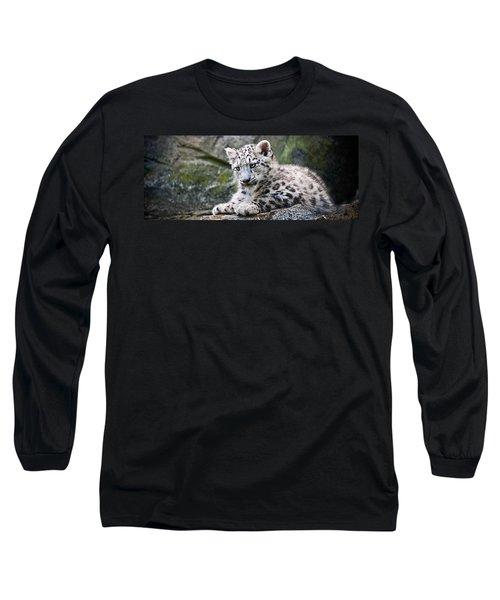Snow Leopard Cub Long Sleeve T-Shirt