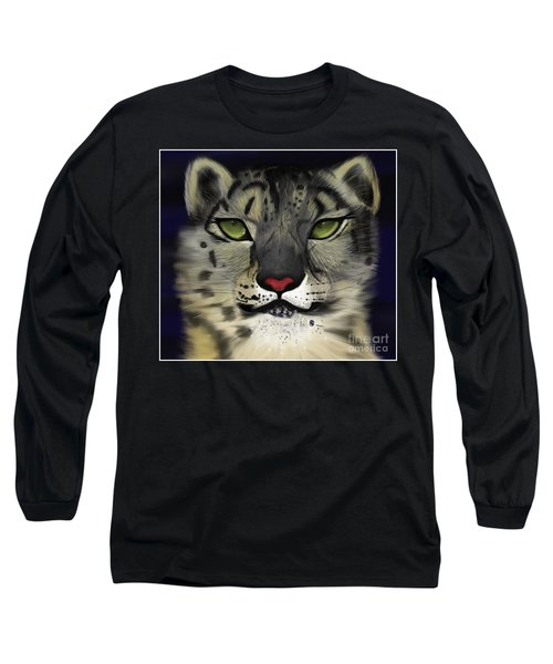 Snow Leopard - The Eyes Have It Long Sleeve T-Shirt